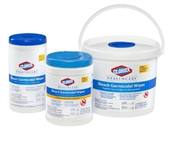 Clorox 69101 Hospital Cleaner Disinfectant Towels With Bleach 7 X 8 50 Box